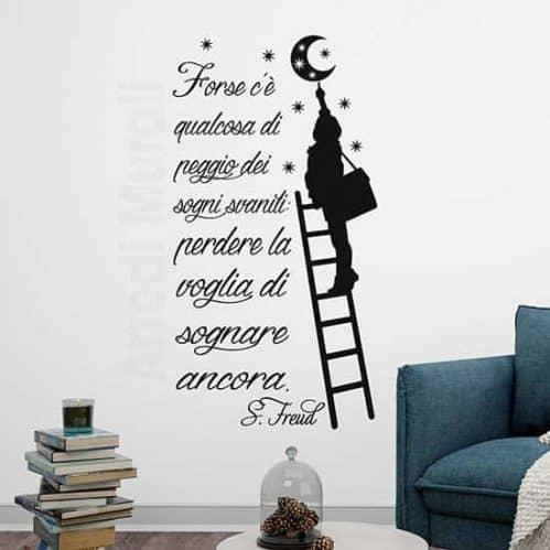 Citazione adesiva da parete di Freud, adesivi murali