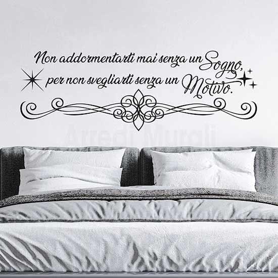 Scritte adesive per camera da letto