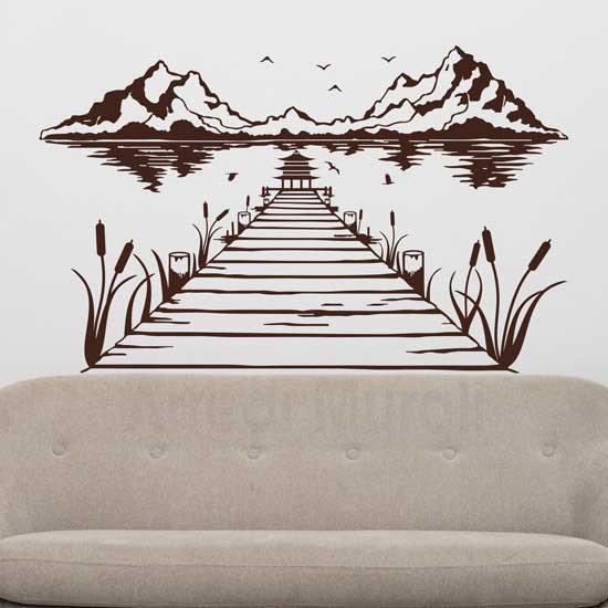Adesivi da parete con paesaggio giapponese