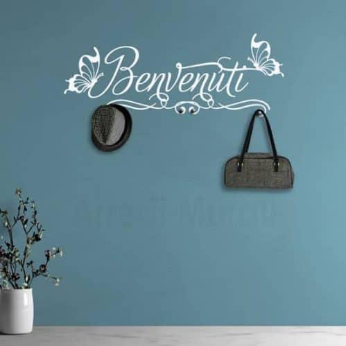 Adesivi da parete appendiabiti benvenuti decorazioni murali