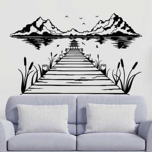Adesivi murali con paesaggio giapponese
