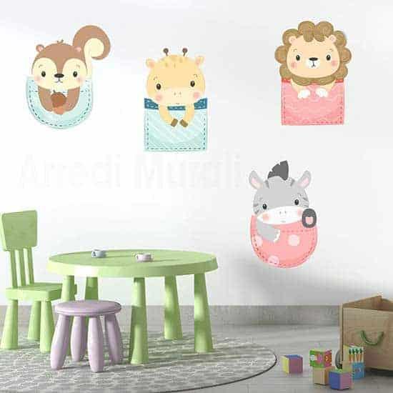 Adesivi per decorare la cameretta dei bambini, stickers murali