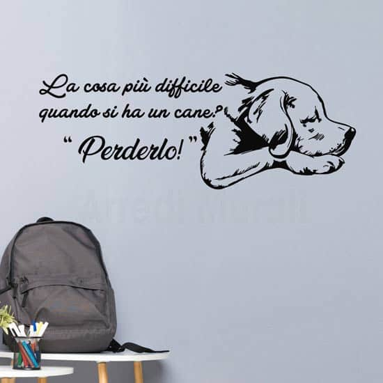 Adesivi da parete con frase sul cane, decorazioni murali