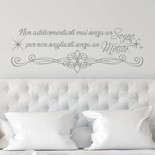Scritte adesive per camera da letto, decorazioni murali