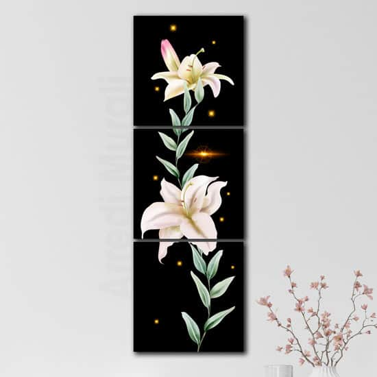 Quadri moderni con fiori e stampe su tela