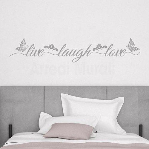 Adesivi murali live laugh love, decorazioni adesive