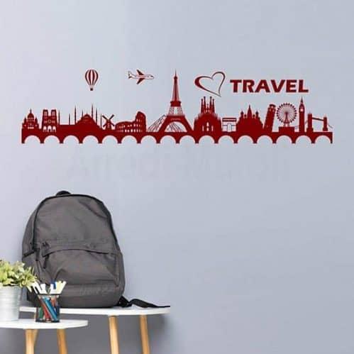 Adesivi da parete agenzia viaggi