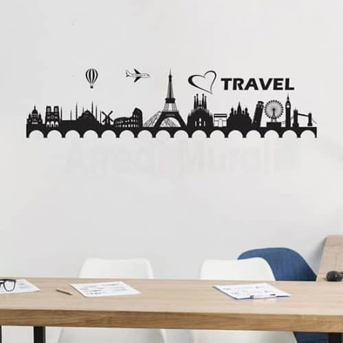 Adesivi murali agenzia viaggi