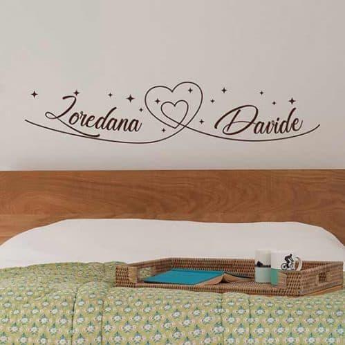 Adesivi personalizzati da parete per camera da letto