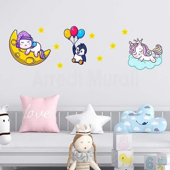 Animeletti colorati adesivi per le camerette