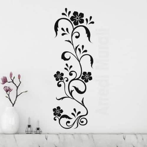 Decorazioni adesive floreali da parete