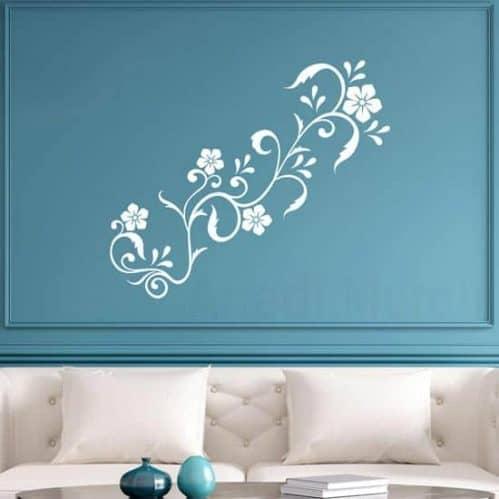 Decorazioni adesive floreali da parete, adesivi murali
