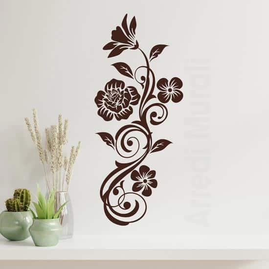 Fiori stickers murali verticali