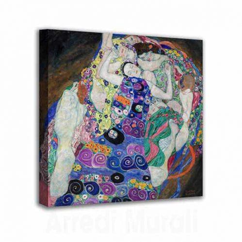 Quadro La Vergine di Klimt riprodotto su tela