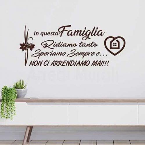 Stickers murali con testo sulla famiglia marrone