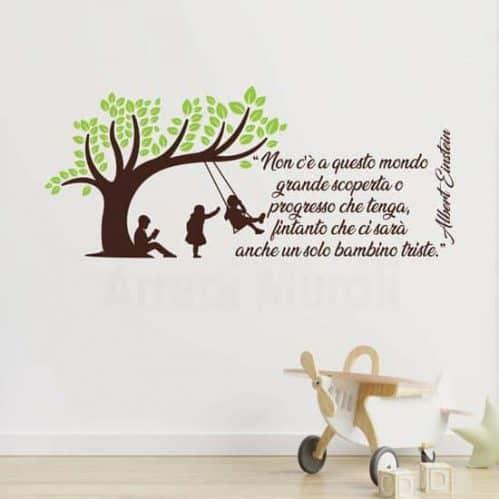 Adesivi da parete con frase sui bambini di Einstein