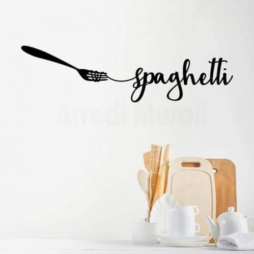 Adesivi da parete spaghetti per cucina