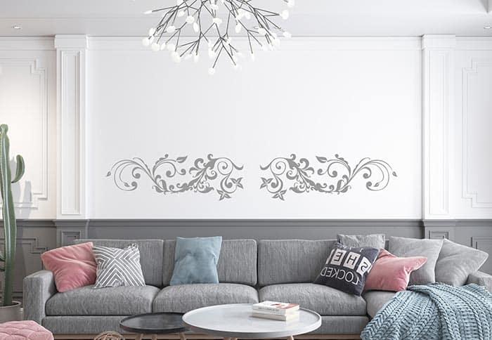 adesivi murali soggiorno