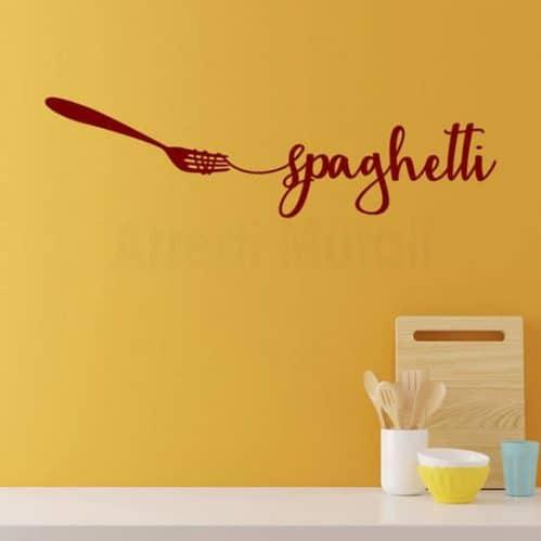 Adesivi da parete spaghetti per cucina, decorazione murale