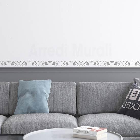 Greca adesiva floreale da parete, decorazioni murali moderne