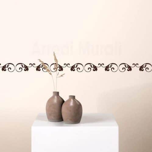 Greca adesiva floreale da parete