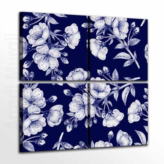 Quadri con fiori arredo da parete moderno