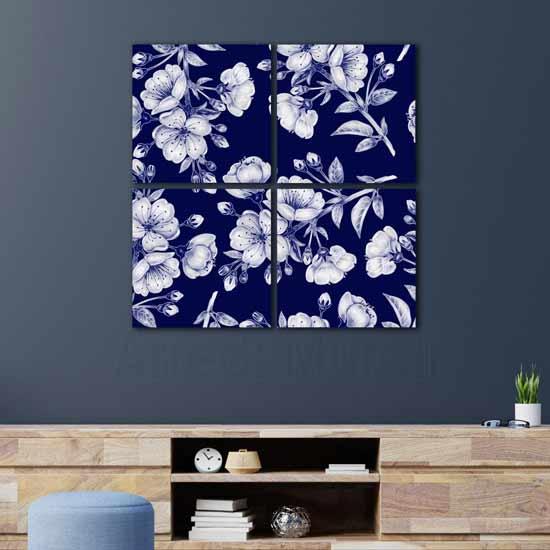 Quadri con fiori arredo da parete moderno con stampe su tela