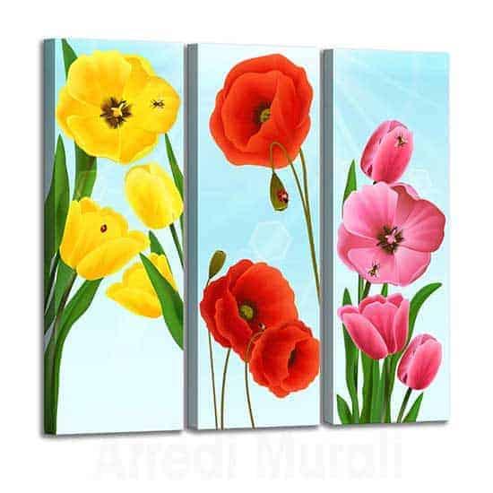 Quadri stampe su tela con fiori