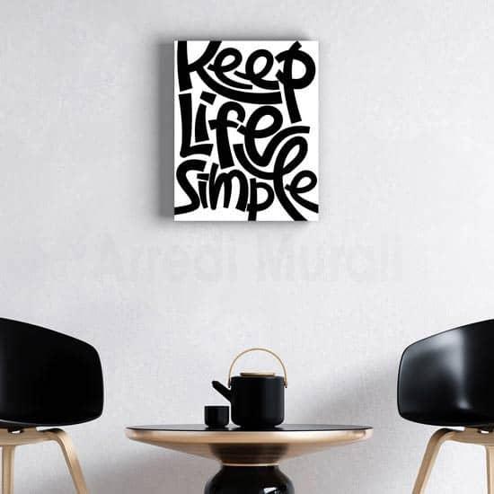 quadro su tela moderno scritta nera sfondo bianco