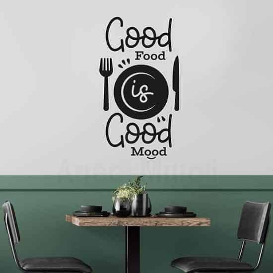 Adesivi murali buona cucina, decorazione da parete