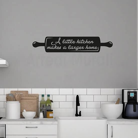 Adesivi da parete con frase per la cucina