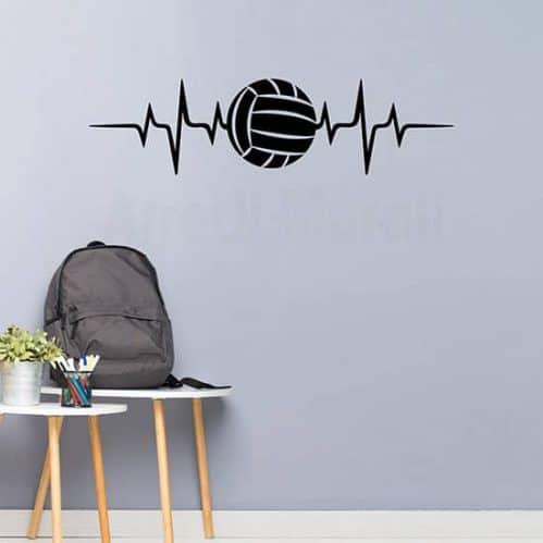 Adesivi murali amore per la pallavolo