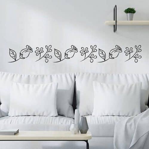 Adesivi murali floreali greca composta