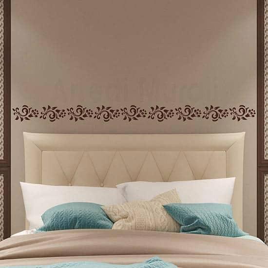 Greca murale floreale adesivi da parete
