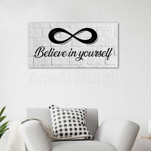 Quadro moderno believe in yourself, stampa su tela