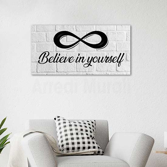 Quadro moderno believe in yourself, stampa su tela