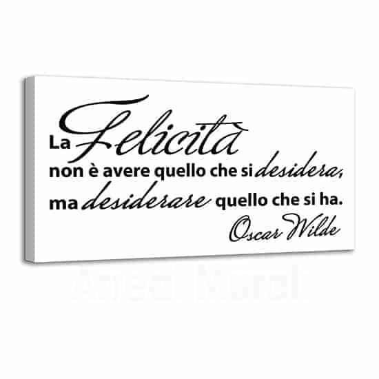 Quadro moderno con frase di Wilde