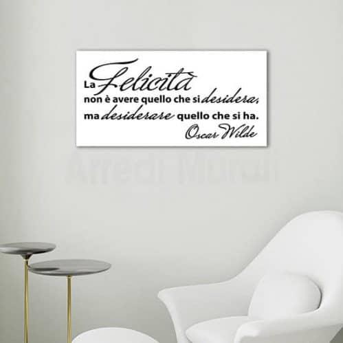 Quadro moderno con frase di Wilde, stampa su tela