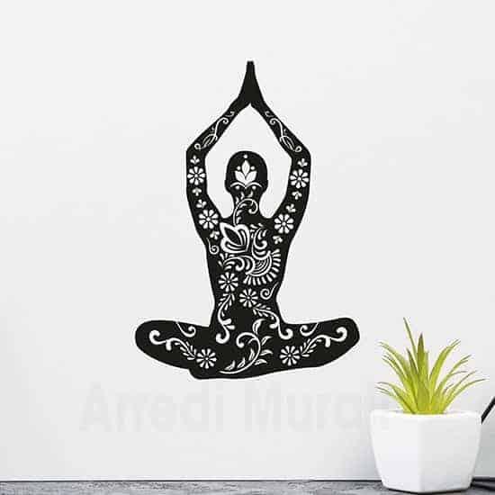 Adesivi da parete posizione Yoga
