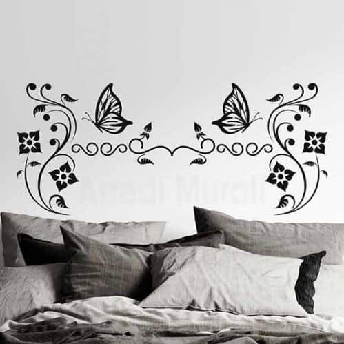 Testata letto adesiva da parete