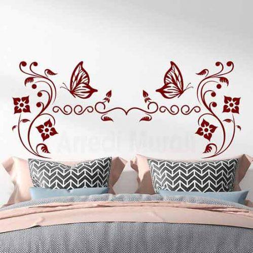 Testata letto adesiva da parete, adesivi murali