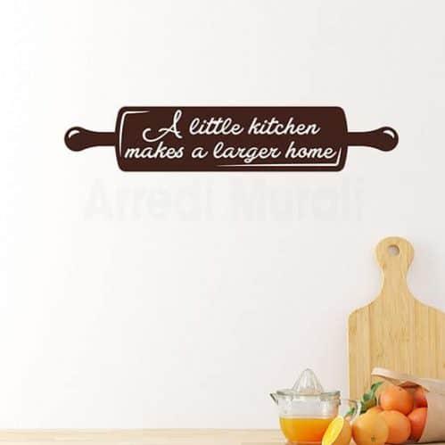 Adesivi da parete con frase per la cucina, decorazioni murali