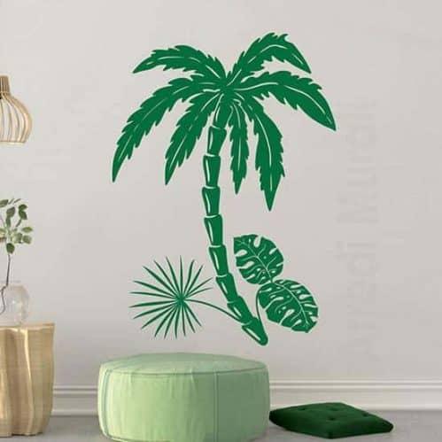 Adesivi murali piante esotiche, decorazioni da parete