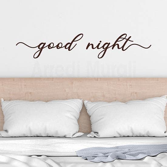 Adesivi da parete per camera da letto good night