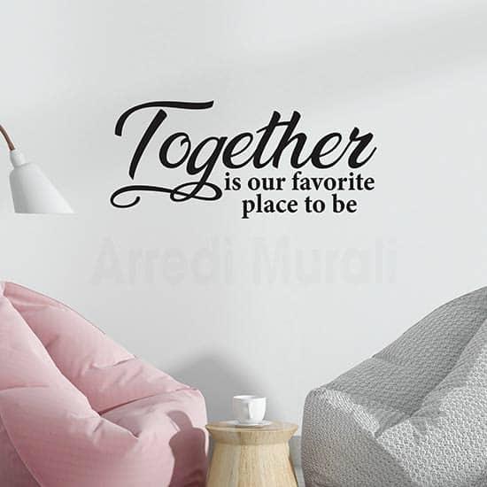 Adesivi murali con frase together