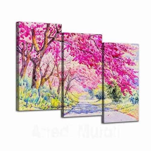 Quadri con paesaggio dipinto a olio