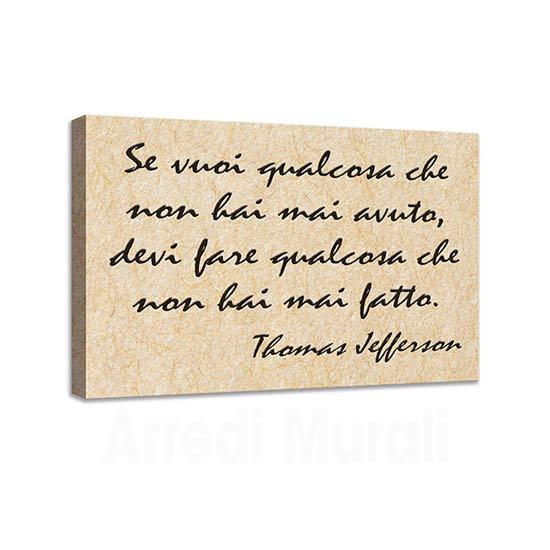 Quadro con frase motivazionale di Jefferson