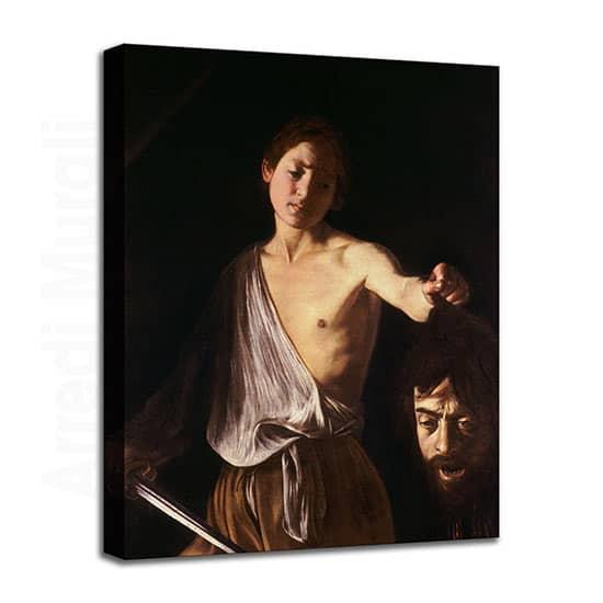 Quadro del Caravaggio con Davide e Golia