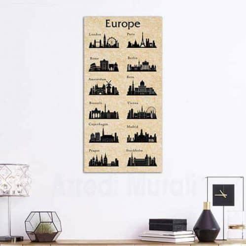 quadro su tela canvas citta europee