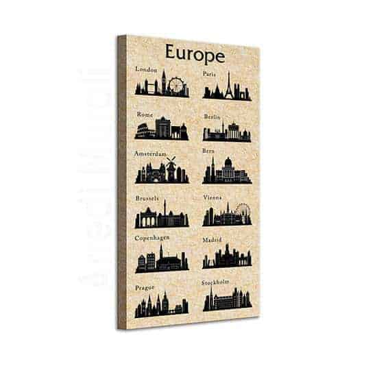 quadro su tela citta europee